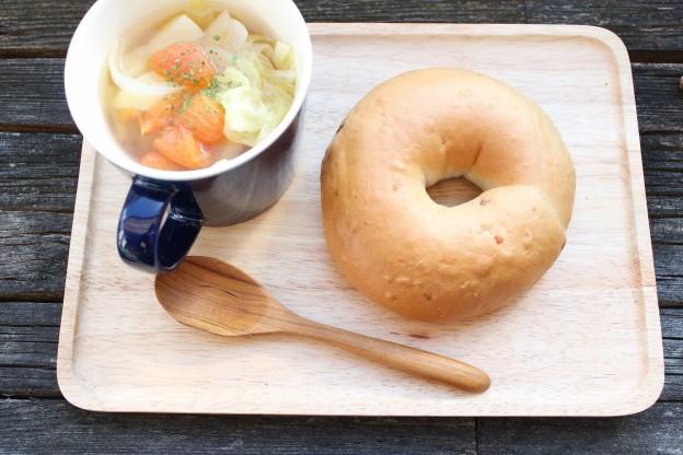 ベーグルレシピ 3月28日 コンソメスープ