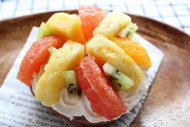 ベーグルレシピ 7月8日 ビタミンカラーフルーツサンド
