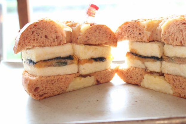 ベーグルレシピ 8月14日 チーズ・ツナ・豆腐のWサンド